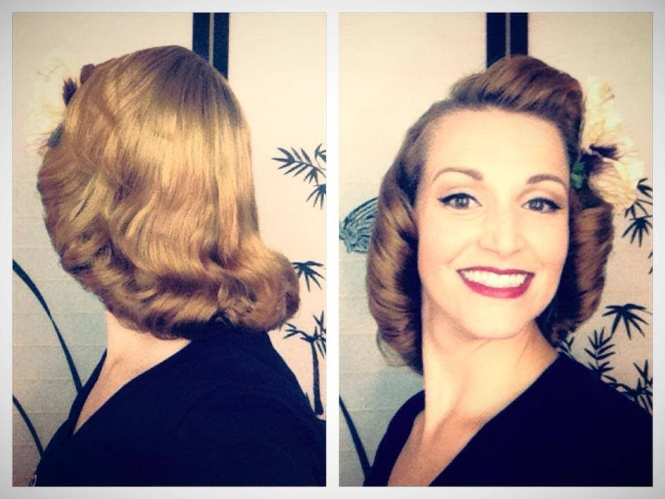 Hair Style 1940: The 1940's Pageboy Tutorial-Basic Authentic Methods Love