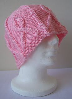 Pink Ribbon Hat Free Pattern in support of Breast Cancer Awareness Month 6713127ffc3