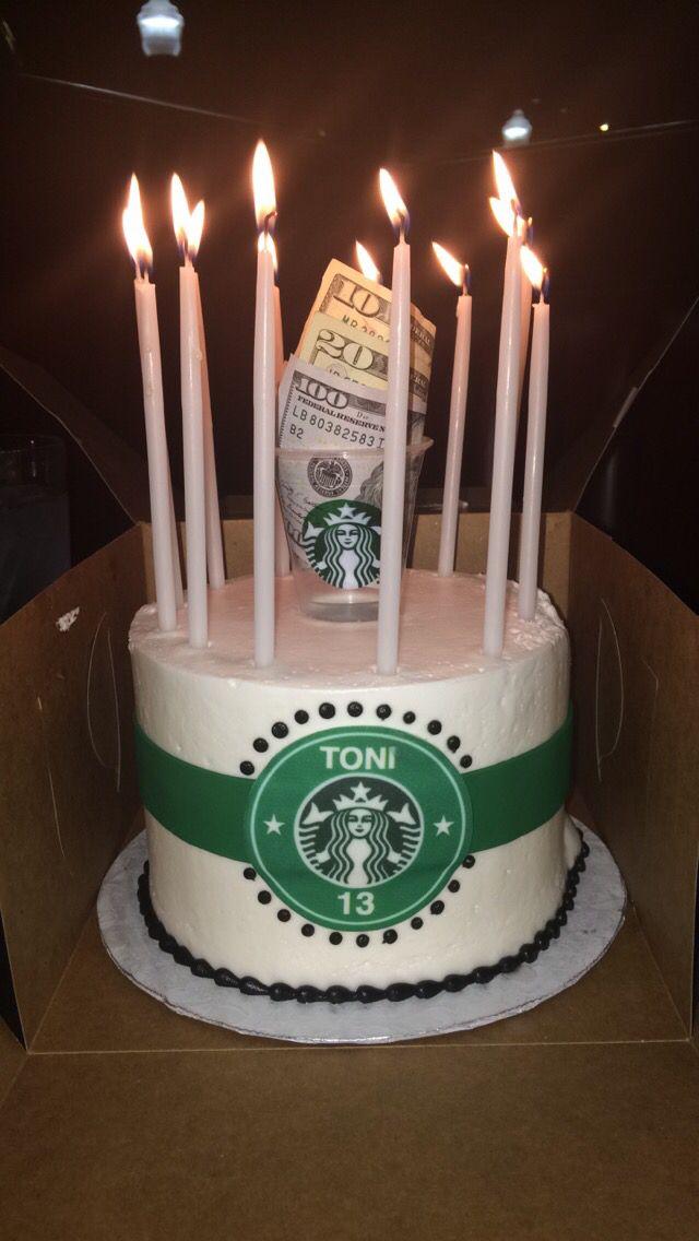 Toni S Starbucks Birthday Cake Starbucks Cake Starbucks