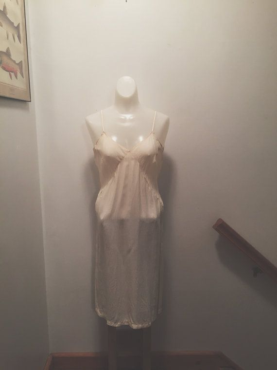 1930s Simple Rayon Slip by ironandhoneyvtg on Etsy