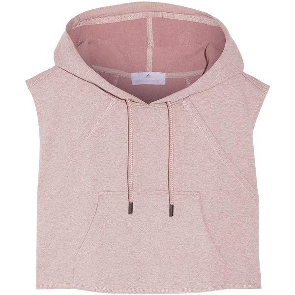 55b6cc1fd6f94 Cropped hooded cotton sweatshirt, Adidas by Stella McCartney, Women's,...  (510 SEK) ❤ liked on Polyvore featuring tops, hoodies, sweatshirts, shirts,  ...