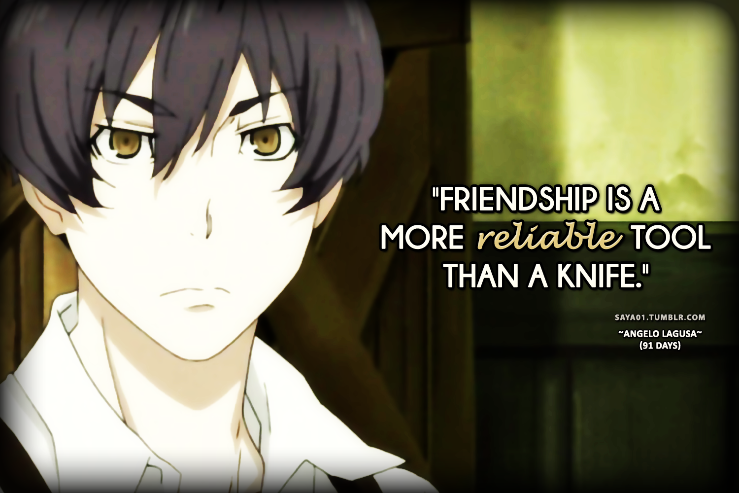 Anime Quotes: Anime Quote / Quotes By Angelo Lagusa From 91 Days