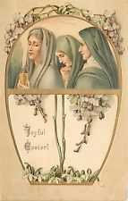 Easter~Jewish Women~Annointing Oil Jar~Spices~Gold Art Nouveau~Snowdrop Lilies