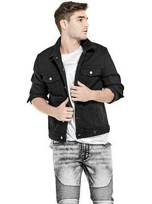 All Mens Sale Guess >> Dillon Denim Jacket Shop Guess Com Guess Men Jackets