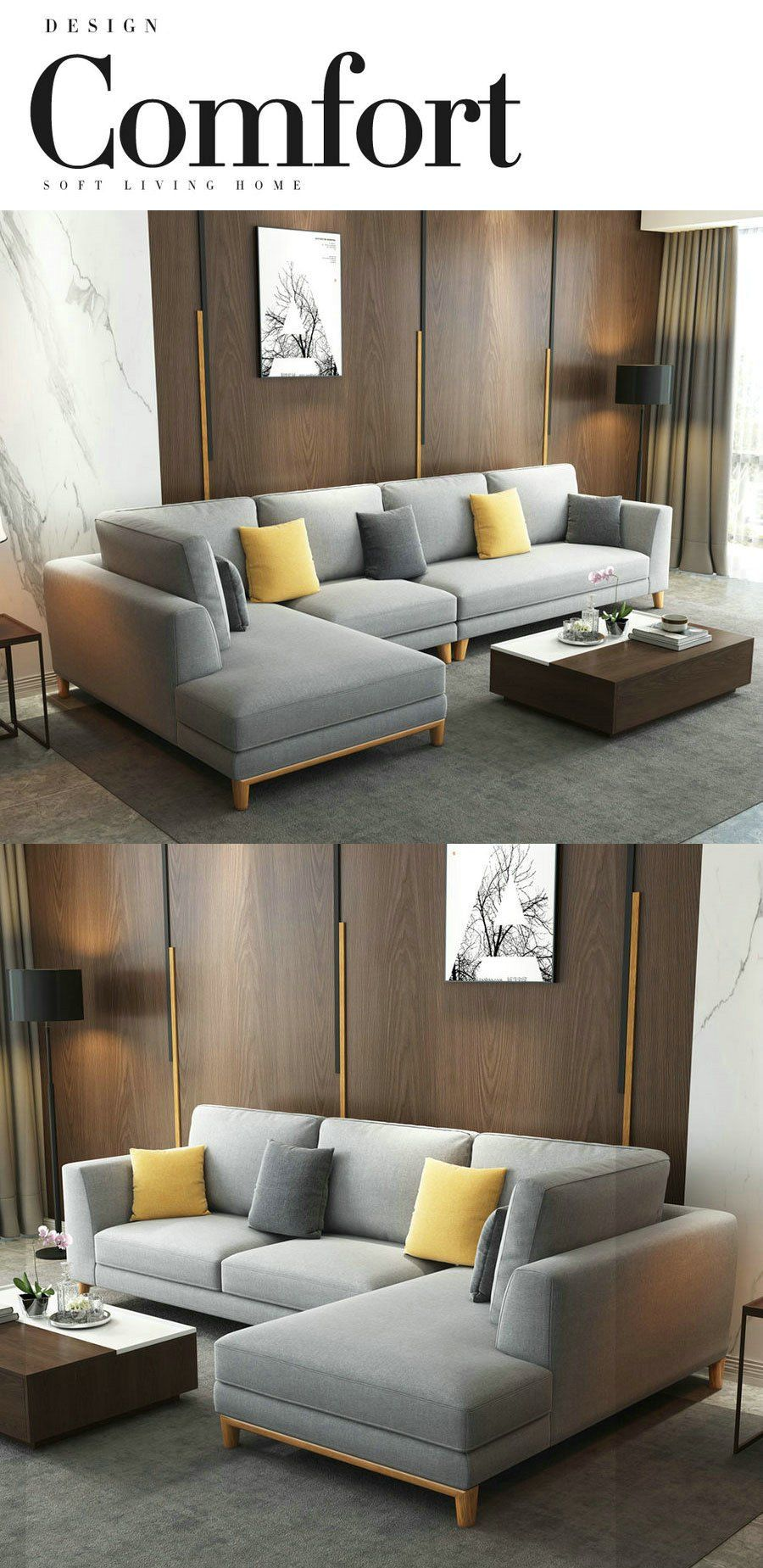L Shaped Couch Small Living Room In 2020