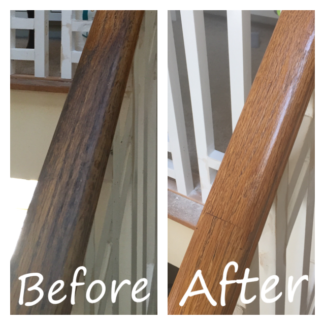 Clean My Wood Railing Bannister Used Lizzie S Method On My Bannister Worked Like A Charm Http Www Thehips Waterfall Furniture Wood Railing Home Management