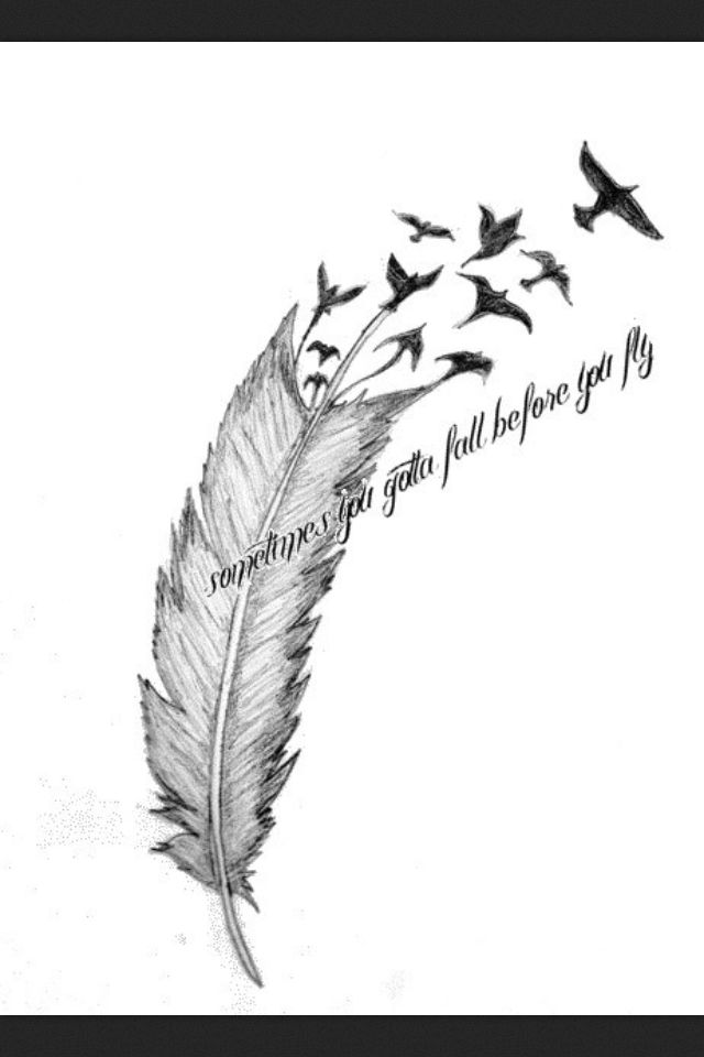 Love The Birds Coming Off Of The Feather Feather Tattoos Feather Tattoo Colour Tattoos
