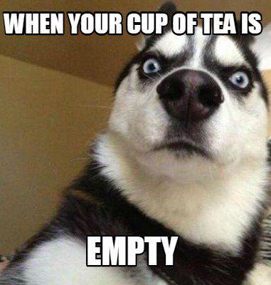 Tea Memes Meme Maker When Your Cup Of Tea Is Empty Meme Maker Swimming Funny Swimming Memes Funny Good Morning Memes