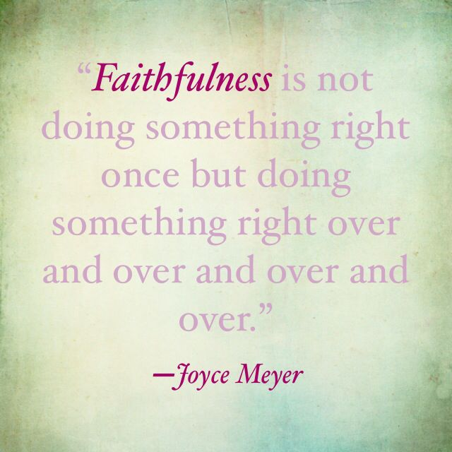 #Faithfulness