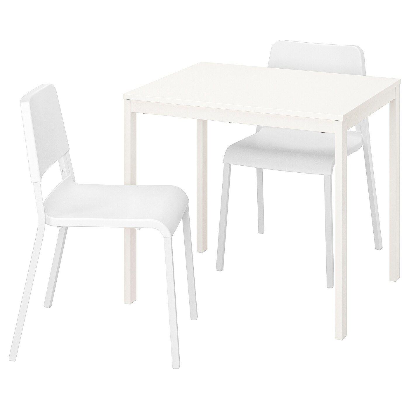 Vangsta Teodores Tisch Und 2 Stuhle Weiss Weiss Stoelen