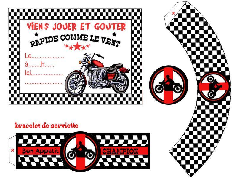 theme moto anniversaire moto cartes invitation. Black Bedroom Furniture Sets. Home Design Ideas