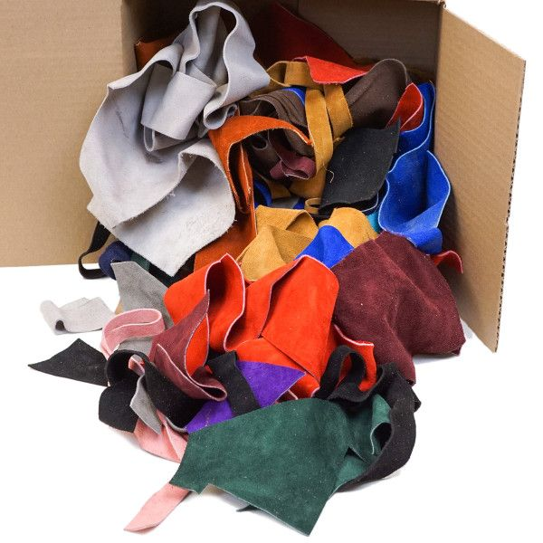 Suede Remnants - Assorted Colors, 6 Lbs