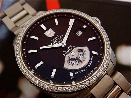 38ccf50480f TAG HEUER GRAND CARRERA DIAMOND CALIBRE 6 RS AUTOMATIC GMT | Fine ...
