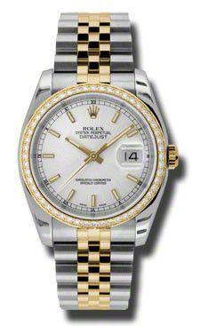 Rolex - Datejust 36mm - Steel and Gold Yellow Gold - Diamond Bezel - Jublilee #116243SIJ