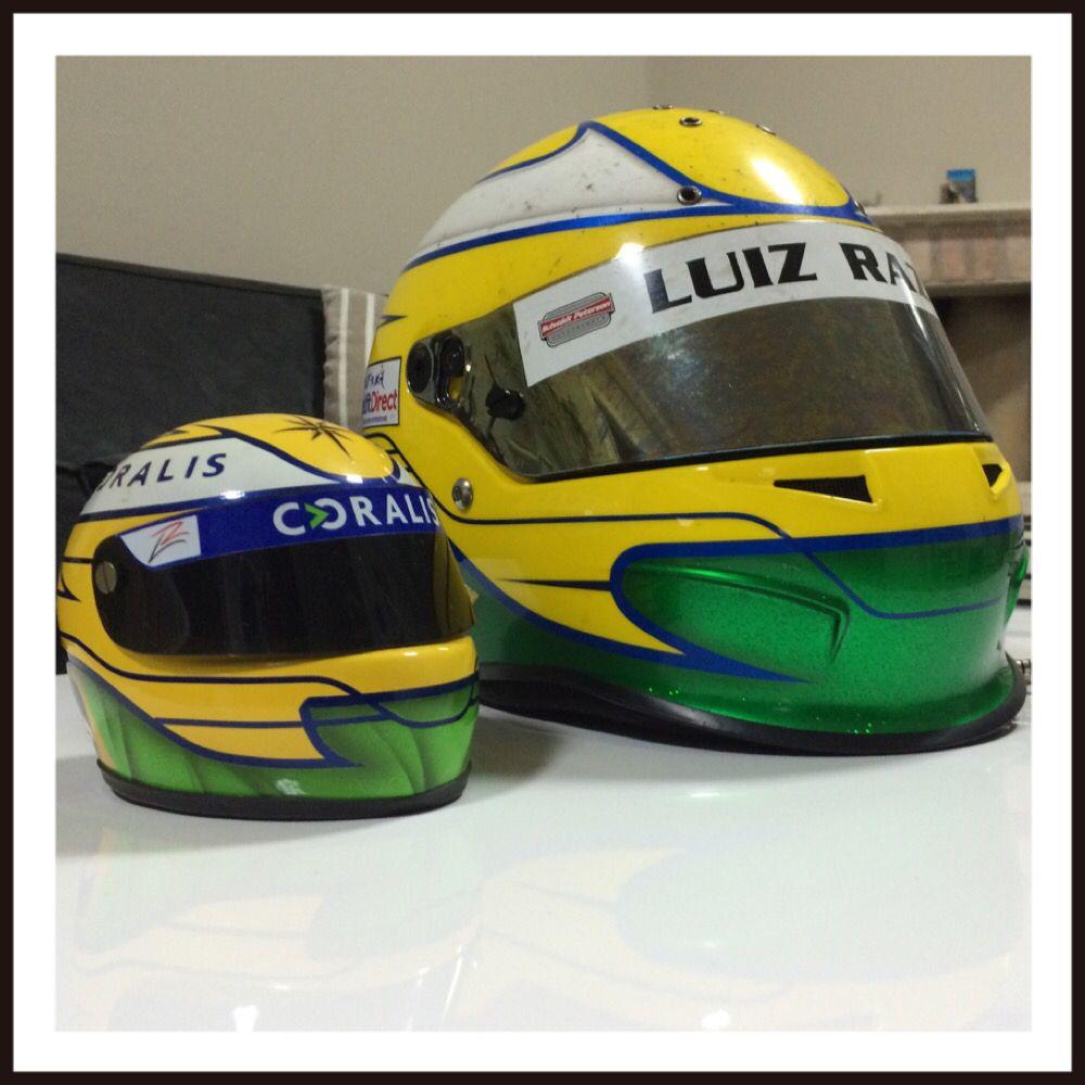 Miniatura do capacete do piloto Luiz Razia feita para os clientes da empresa Coralis que participaram do Dia de Piloto no autódromo de Interlagos. Um evento de Relacionamento que proporcionou uma Experiência inesquecível e aproximou seus convidados a fortalecer seus Negocios. Somos a @gsa_mb. (Miniatura e evento realizados antes da última alteração de design do capacete original) @luizrazia @coralis @gsa_mb #coralis #luizrazia #gsamb