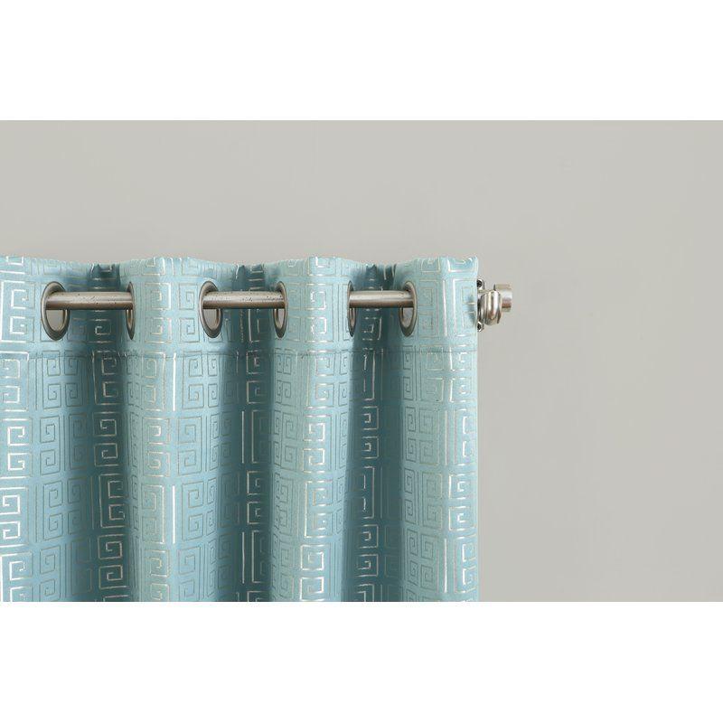 Tammie Geometric Blackout Lined Grommet Single Curtain Panel