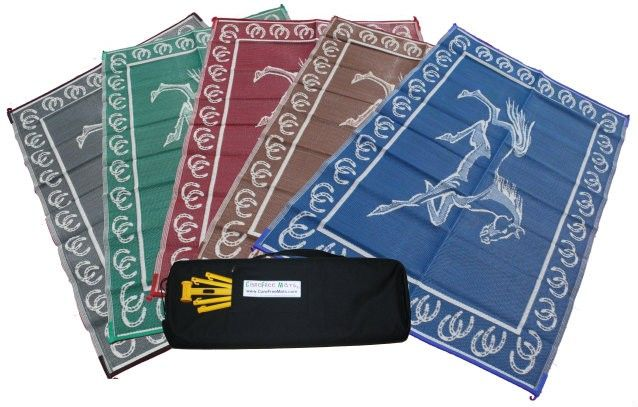 Carefree Horse - RV Awning Patio Mat with Free Mallets and Stakes ...