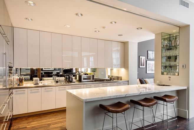 An Industrial Condo Kitchen In New York