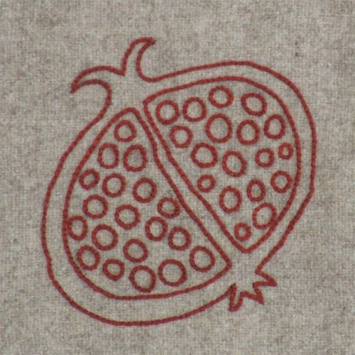 embroidery pomegranite