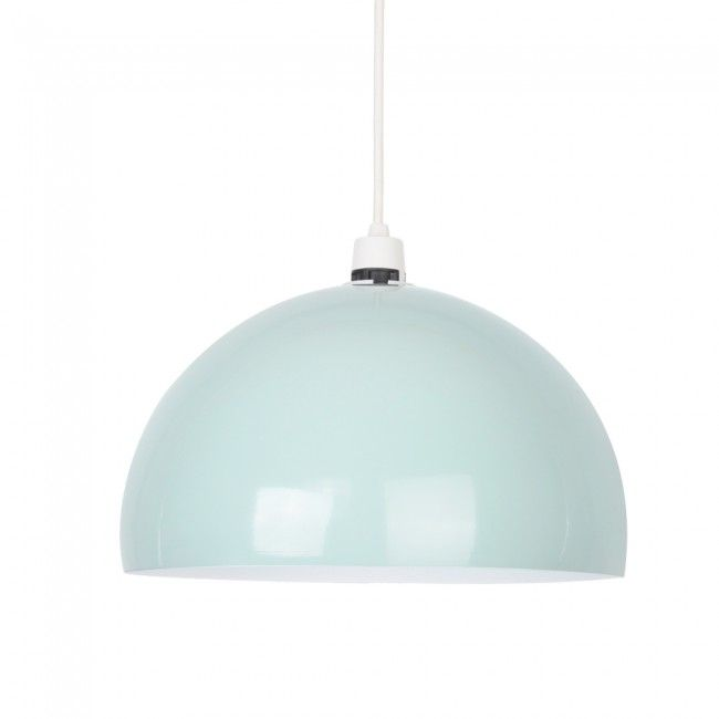 New york coffee shop style gloss duck egg blue gloss metal dome new york coffee shop style gloss duck egg blue gloss metal dome pendant light aloadofball Image collections