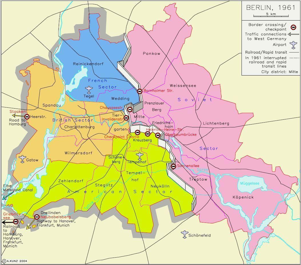 West Berlin Karte.Map Berlin Travel Map Berlin Berlin Wall