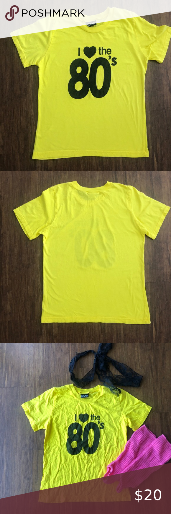 Check out this listing I just found on Poshmark: Girls Love The 80's 1980s T-Shirt Yellow XL 14-16. #shopmycloset #poshmark #shopping #style #pinitforlater #Coe #Other