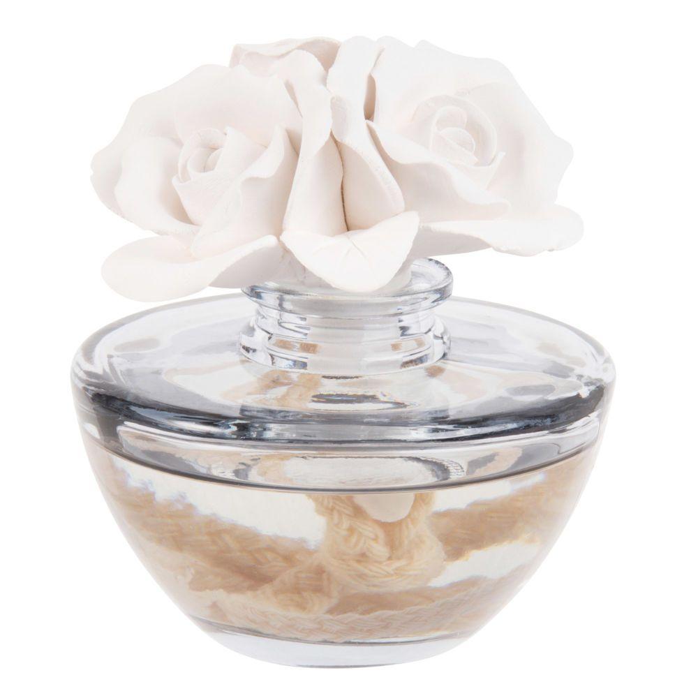 Diffuseur En Verre Parfum Tendre Fleur Avec Support En Platre 100ml Maisons Du Monde Sabonetes Perfume Vela