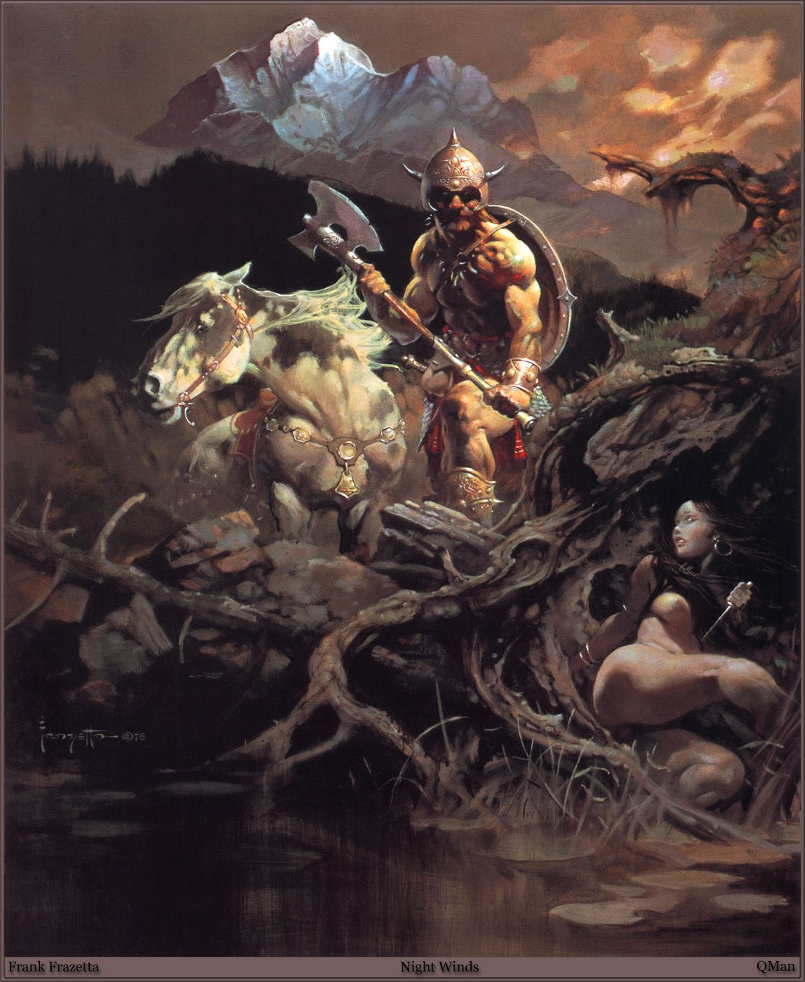 Frank Frazetta Paintings, Art, Pictures, Gallery, QMan_FF_Legacy_552_Night_Winds