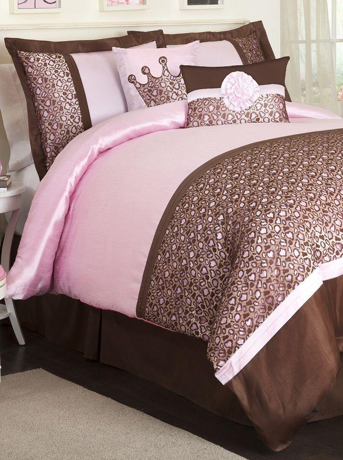 Pink And Brown Leopard Pink Comforter Sets Comforter Sets