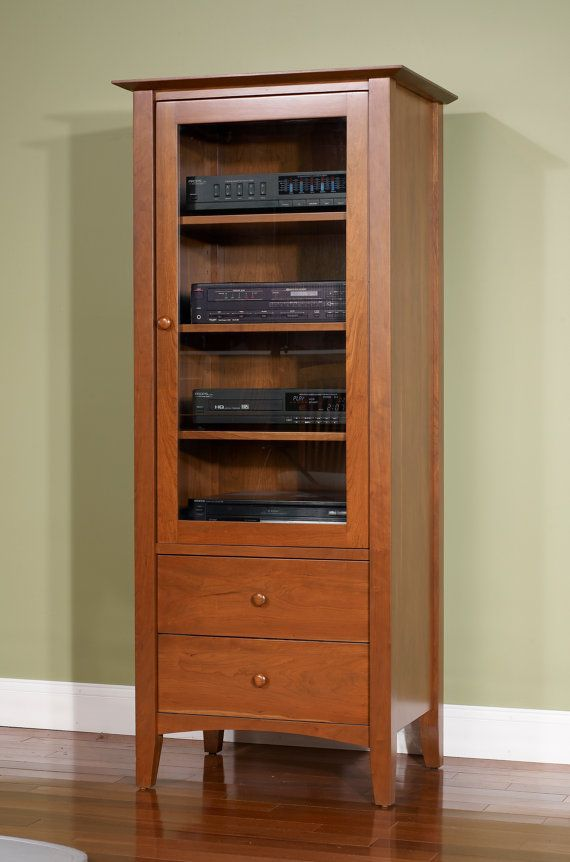 NEW SHAKER AUDIO Cabinet 100 Solid Cherry Audio By Domestichome, $1899.00