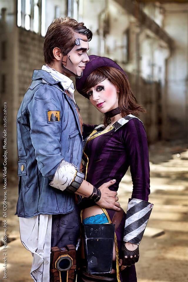 Handsome Jack Zel Coshorse Mad Moxxi Violet Cosplay