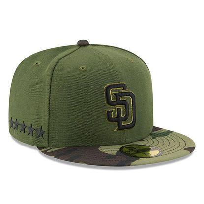 sneakers for cheap 7eec5 50c17 Men s San Diego Padres New Era Green 2017 Memorial Day 59FIFTY Fitted Hat