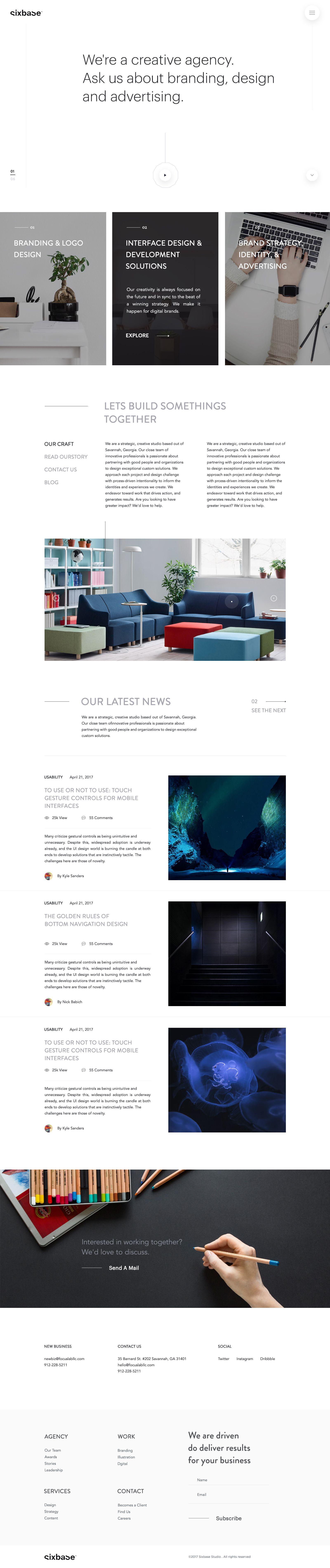 Studio Landing Page Design Concept 02 Creative Web Design Best Web Design Web Design Trends