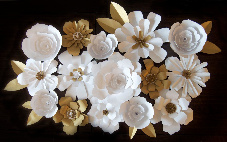 DIY Paper Flower Backdrop by KMHallbergDesign on Etsy  Davidus