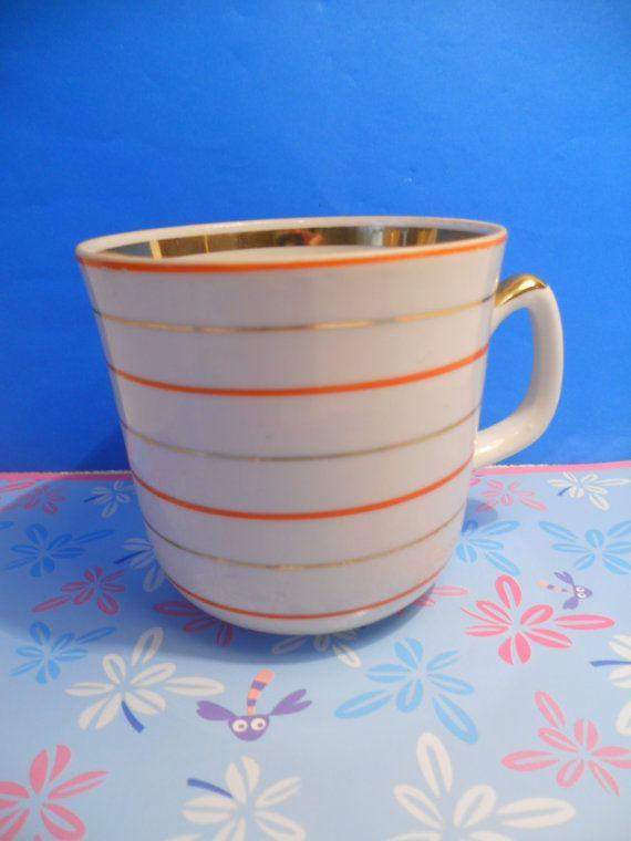 Soviet vintage coffee or tea cup with handle от ...