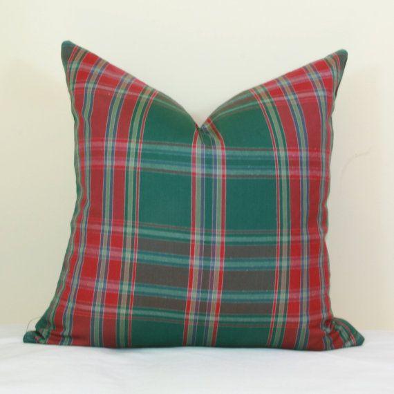 16X26 Pillow Insert Red Green Plaid Pillow Cover 16X16 18X18 20X20 22X22 24X24 26X26