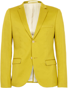 best collection catch new lifestyle Topman Acid Yellow Skinny Blazer - on #sale 69% off ...