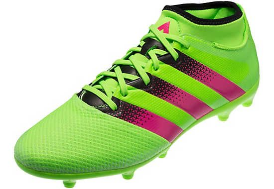 184769c38 adidas ACE 16.3 Primemesh FG AG Soccer Cleats - Solar Green   Shock Pink