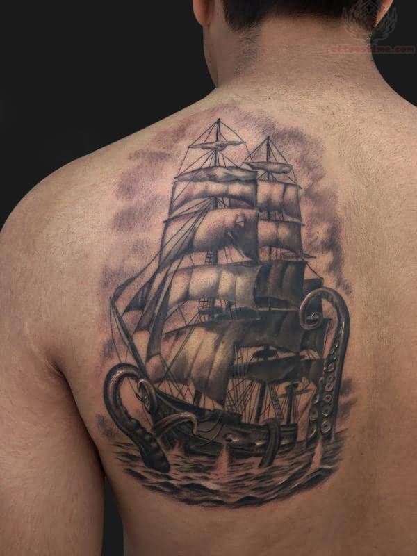 Ship Back Tattoo View more: pirate ship tattoos