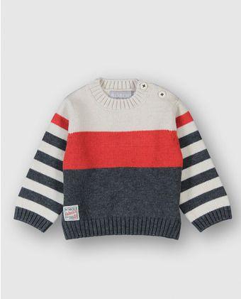 aaa872d3b Jersey de bebé niño Boboli de rayas | tricotaje copii | Sueter para ...