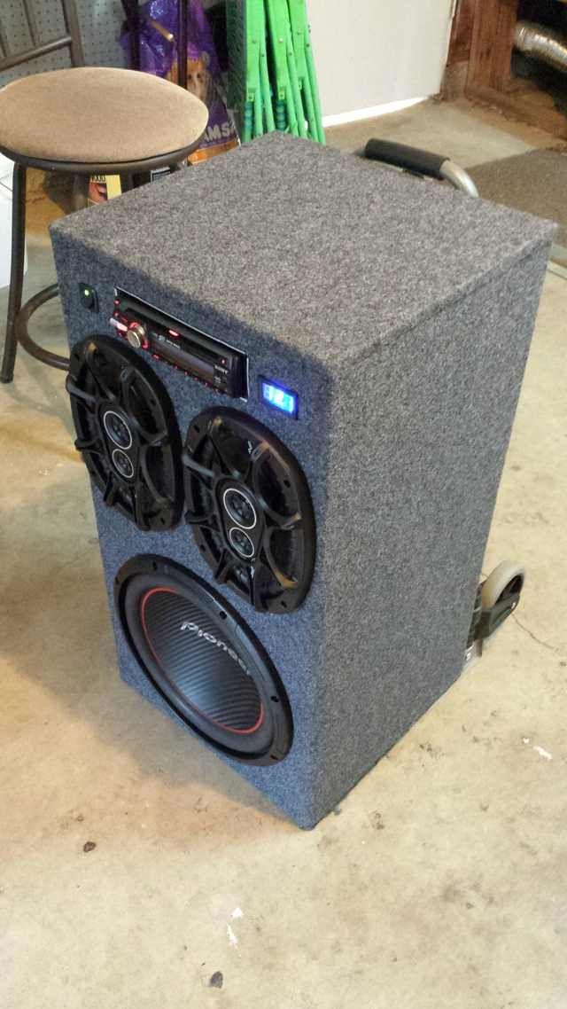 Diy Portable Stereo Nützliches Boombox Autoradio Und Bluetooth