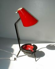 Mid Century Modern French Ashtray Table Lamp Jacques Biny 1950 Lampe Cendrier 50 Lamp Vintage Lamps Table Lamp