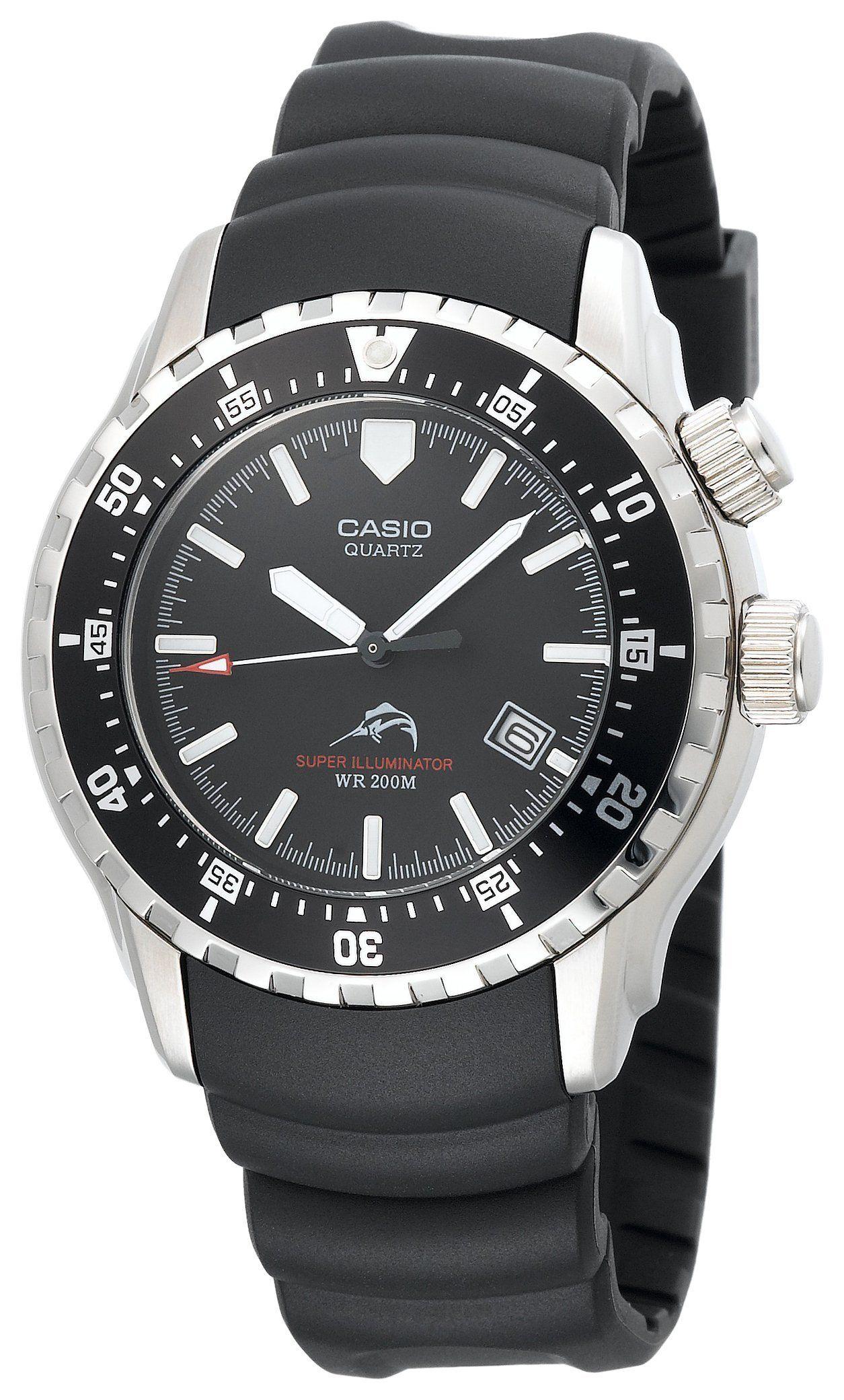 f050adc164cf Casio Men s MDV102-1AV Sea Analog Illuminator Dual LED Dive Watch ...