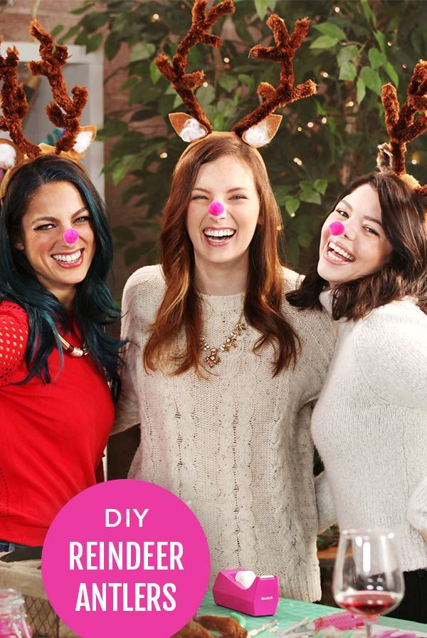 DIY Reindeer Antlers for your Holiday Parties