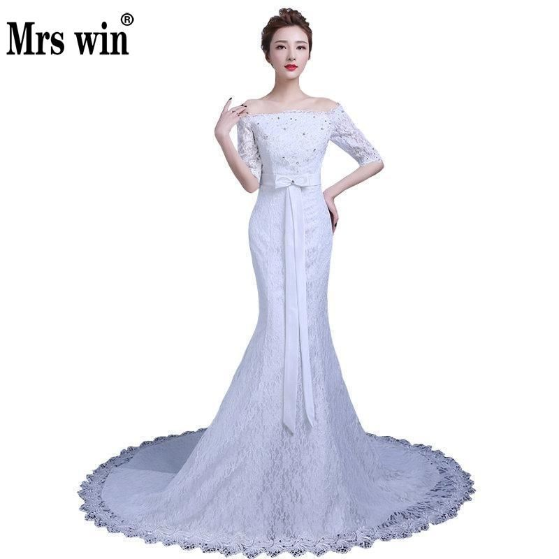 2016 New Design Sexy Tulle Lace Boat Neck Long Mermaid Country Wedding  Dresses 2016 Vestido De d63f35508938