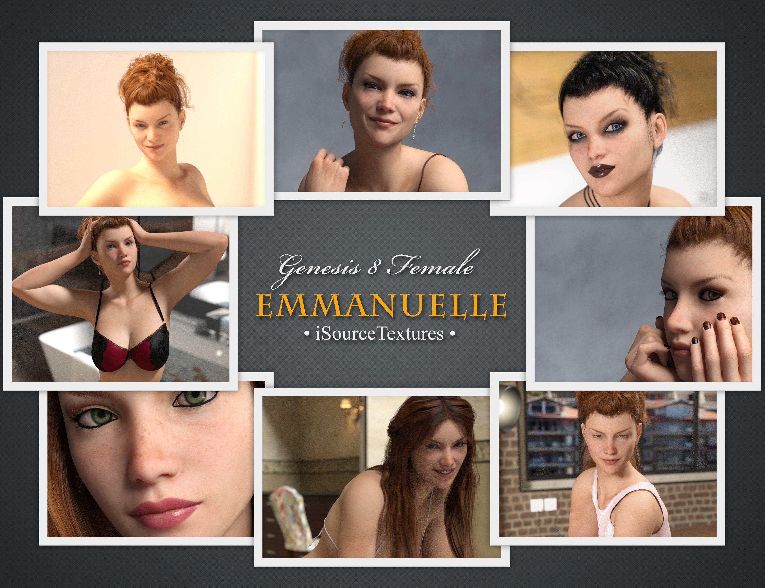 Emmanuelle for Genesis 8 Female | 3D Models and 3D Software