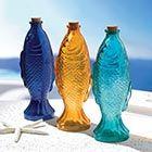GLASS FISH BOTTLES (SET OF 3)