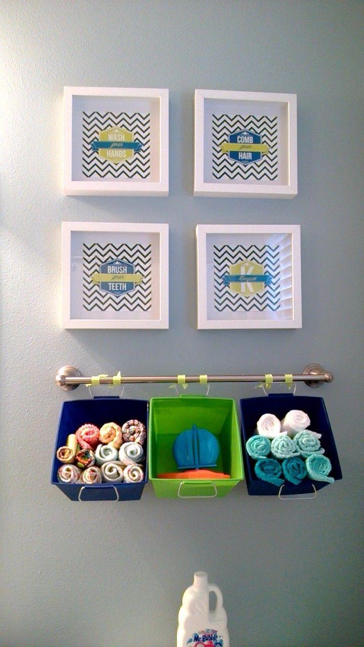 Toddler Boy Bathroom Love The Hanging Baskets Boys