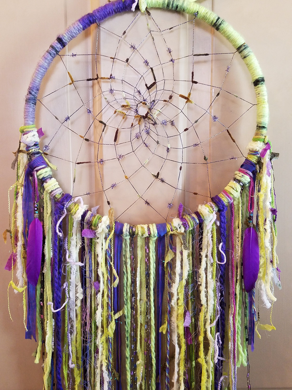 Boho Gypsy Dreamcatcher Handmade Dreamcatcher Long Dreamcatcher