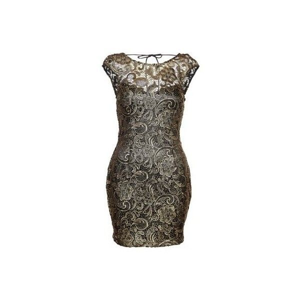 Lipsy London Cocktailkleid festliches Kleid black ($125) ❤ liked on ...